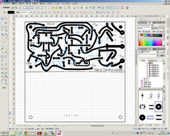 2SA1002/C2322パワーアンプ基板作成画面.jpg